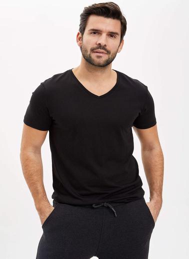 DeFacto Slim Fit T-Shirt Siyah